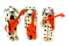 Dalmatian Trio (Mexican Folk Art) Tags: mexico oaxaca woodcarving oaxacan woodcarvings mexicanfolkart handmadewoodcarving musiciandalmatians