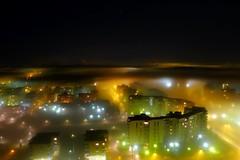 Night Mist (timo_w2s) Tags: mist fog night finland helsinki cirrus vuosaari