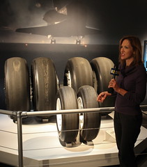 Endeavour's Wheels (jurvetson) Tags: california news losangeles space center science nasa shuttle unveiling cbs csc orbiter channel2 endeavour sts134
