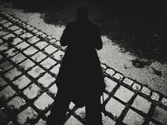 Hard Shadow (Yves Roy) Tags: street city shadow urban blackandwhite bw black art contrast dark austria blackwhite raw moody noiretblanc 28mm snap yr fav10 ricohgrd grdiii yvesroy yrphotography