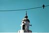 283 - The old minaret (Ata Foto Grup) Tags: old blue sky canon turkey wire pigeon minaret muslim islam tel türkiye istanbul mosque speaker ottoman cami mavi gökyüzü kuş güvercin minare balat hilal tarihi ahşap alem dve hoparlör ahşapkapı 5dmark2 kaıp
