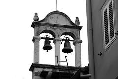 bell frame ✿ (cyberjani) Tags: church blackwhite zadar dalmatia