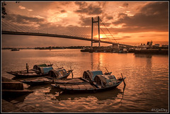 Kolkata Kolkata (ujjal dey) Tags: sunset river evening boat dreams kolkata ujjal hooghlyriver princepghat nikond90 2ndhooghlybridge nikon18105mm ujjaldey ujjaldeyin