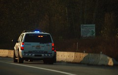 Surrey BC (Ian Threlkeld) Tags: canada spring nikon scenery driving bc police surrey rcmp transcanadahighway lawenforcement emergencyvehicles policevehicles d80