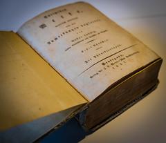 1837 (Fay2603) Tags: old orange yellow writing buch book beige pages alt text indoor gelb schrift antiquarian seiten handschrift antiquarisch versifft buchseiten