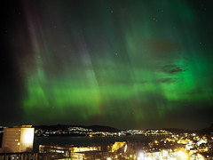 The aurora that filled the sky. (Torjan Haaland) Tags: light sky norway that norge s olympus filled aurora bergen f18 northern omd borealis nordlys em1 17mm