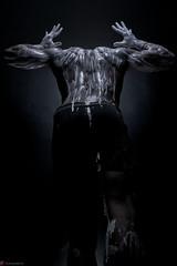 IMG_3891 (m.acqualeni) Tags: white black ink dark de noir nu muscle expression peinture manuel blanche manu personne couleur fond homme photographe motion bodybulder acqualeni