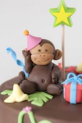 Close Up Monkey (www.cupcakemegs.com) Tags: party cake zoo monkey model chimp handmade chocolate edible fondant sugarpaste cupcakemegs