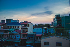 Laundry Time (zjasonqian) Tags: city sunset buildings asia cambodia cityscape dusk clothes laundry southeast phnom drying penh