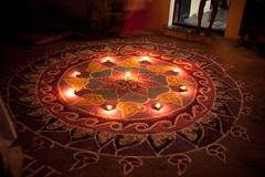 Lamps, swirls kolam_.jpg (melissaenderle) Tags: celebration festival kolam adyar