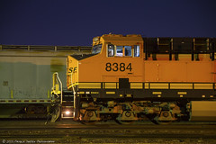 Nightbeat (Patrick Dirden) Tags: california railroad northerncalifornia train diesel engine rail cargo locomotive riverbank ge freight bnsf centralvalley generalelectric sanjoaquinvalley freighttrain burlingtonnorthernsantafe stanislauscounty gevo bnsfrailway bnsfrailroad burlingtonnorthernsantaferailroad riverbankca es44c4 bnsfstocktonsub bnsfriverbankyard bnsf8384