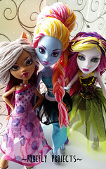 Hello Angels! (Pyrefly Projects) Tags: thread abbey monster high doll embroidery projects spectra custom reroot rehair restyle pyrefly kizrianah