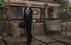Shopping in Paris (Jamee Sandalwood - Miss V SWEDEN 2015) Tags: blue stone shopping bag outside outdoors gold necklace model 500v20f sl nails jacket secondlife blonde casual satchel couture revamped 1000v40f slfashion fashionartphotography lavian