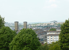 2 Towers & A Crane (neuphin) Tags: town crane towers plymouth devonport dockyard morrice