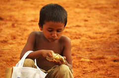 Happiness is getting food (Arefin Alvi) Tags: food children happy child eating candid happiness satisfaction streetchildren