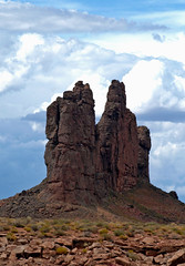 Solitary Rock (SCFiasco) Tags: travel arizona monument rock stone spires monumentvalley scfiasco siasoco edsiasoco