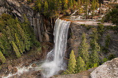 Vernal Falls [Explored] (SandyK29) Tags: california morning trees nature water waterfall spring rocks hiking hike falls pines yosemite granite pinetrees vernalfalls springmorning misttrail johnmuirtrail beautyinnature nikond800