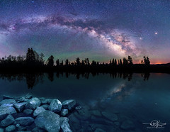 Milkyway lake (Keele_Photography) Tags: trees light panorama usa lake mountains reflection water silhouette stars utah nikon rocks wasatch underwater nightscape low front canyon astro galaxy astrophotography astronomy rockymountains nikkor gitzo payson milkyway 2470mm d600 utahcounty
