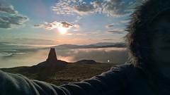 Meall Mor Monument - selfie (pinkpebbleperson) Tags: monument dawn scotland spring argyll glencoe selfie rannochmoor meallmor
