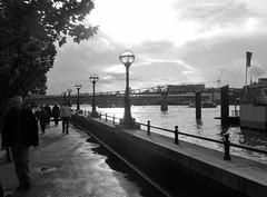 Embankment (farwest56) Tags: olympus sz31mr london embankment riverthames lamp people walking jetty