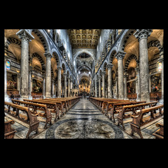 Duomo di Pisa (R.o.b.e.r.t.o.) Tags: italy church nikon italia cathedral unescoworldheritagesite fisheye pisa chiesa pi tuscany duomo roberto toscana cattedrale piazzadeimiracoli campodeimiracoli fieldofmiracles d700 squareofmiracles hdr5raw