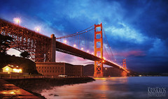 the splendor of the golden gate bridge (Kris Kros) Tags: world sf california ca bridge cold night digital painting point known lights golden bay twilight bravo gate san francisco paint shadows shot heart suspension fort spirit touch smooth engineering grand icon soul kris historical sanfran nocal northern magnificent kk frisco kkg blending splendor grandeur renowned sfran kros kriskros widely acclaimed kkgallery itoldyouitsnothdr