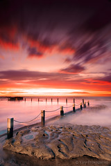 Red Dawn (-yury-) Tags: ocean sunset sea sky cloud seascape pool sunrise landscape photography australia nsw beech maroubra reddawn mahonpool