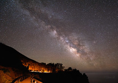 Milky way over McWay Cove (Yan Photography) Tags: sky fall night stars landscape star cove bigsur galaxy celestial milkyway mcway