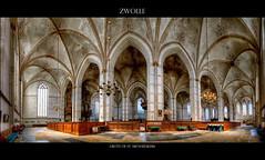 Zwolle - Grote- of St. Michalskerk (Hans van Bockel) Tags: panorama church photoshop nikon raw nef tripod d200 markt hdr zwolle vanguard grote ptgui photomatix digitalcameraclub nikcolorefex michalskerk 1024mm
