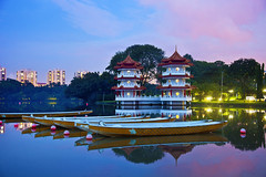 Singapore (Kenny Teo (zoompict)) Tags: reflection landscape pagoda boat yahoo google singapore chinesegarden zoompict