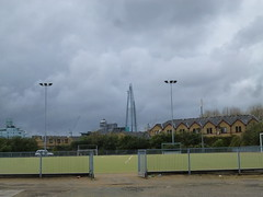 View of the Shard from John Orwell Leisure Centre (John Steedman) Tags: uk greatbritain england london unitedkingdom shard e1 wapping shadwell grossbritannien  towerhamlets    grandebretagne     johnorwellleisurecentre