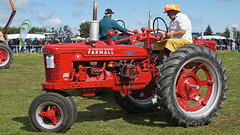 Farmall H Tractor. (Hugh McCall) Tags: old red classic barley rural vintage countryside cattle sheep diesel wheat farming grain gas international plow petrol hay veteran oats timer plowing plough dealership harvester farmall mccormick implements ploughing deering cultivating