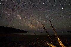 Sand beach (sherbypictures) Tags: park usa beach night canon way stars sandy vincent maine tokina galaxy national sherbrooke astronomy milky starry f28 acadia fortin voie t3i 1116 600d lacte
