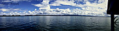 Beautiful Kaptai Lake (Chowdhury Imbisat Khurshid) Tags: blue panorama reflections river landscape boat visit panoramic bangladesh chittagong kaptai