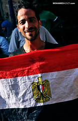 A Man with Egypt's Flag (Mohamed Azazy) Tags: museum square president protest egypt victory cairo celebrations egyptian elections protesting elect shafiq  tahrir  egyptians    morsi