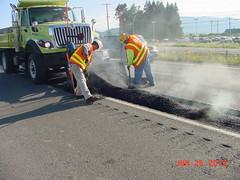Repaving I-5 near Burlington (WSDOT) Tags: burlington i5 paving dat