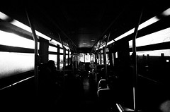(egetron) Tags: nyc blackandwhite bw 3 bus film brooklyn 35mm canon eos mta