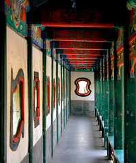 Long Hallway In Forbidden City (Ringo Lee (^_^)) Tags: china travel b red beautiful canon spring colorful asia beijing icon best winner  awards forbiddencity thebest masterpiece est  peaking  flickrbest  beajing