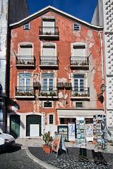 House in Lisbon, Portugal (pas le matin) Tags: door windows portugal window facade lisboa lisbon porte fentre faade lisbonne fentres