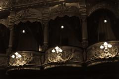 Little Boxes (For the Poshos) (The_Kevster) Tags: leica light heritage sepia shadows theatre capital columns victorian rangefinder mann boxes lamps gargoyles douglas operahouse pillars carvings isleofman edwardian summicron50mm gaietytheatre frankmatcham leicam9