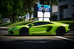 Green Monster (Bernardo Macouzet Photography) Tags: black verde los italian angeles sunday wheels hollywood ithaca lamborghini citibank supercar v12 700hp aventador lp7004