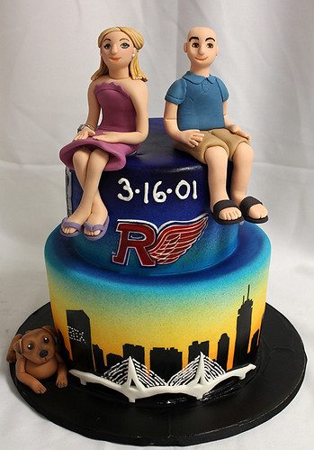 Boston Skyline grooms cake
