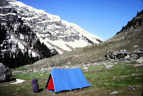 My Tent at foot of Lidderwat Mountain, Kashmir