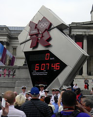 0 days to go countdown clock Trafalgar Square London 2012 Olympics 27th July 2012 14:56.26pm (dennoir) Tags: london clock square go trafalgar july days olympics countdown 27th 2012 145626pm