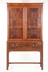 57. Hepplewhite One Drawer China Cabinet