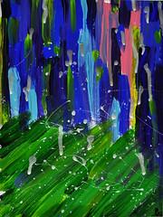 """Rain in the Park"" (BKHagar *Kim*) Tags: abstract art painting artwork paint acrylic mixedmedia imagination bkhagar kimart"