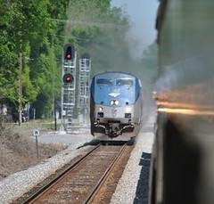 passing Amtrak Crescent's '2 views' (Loco Steve) Tags: train alabama crescent amtrak tuscaloosa northbound