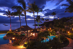 Tropical Dream (markeloper photography) Tags: ocean trees sunset sea cliff beach water bar island fire hawaii hotel wind earth dive dream maui palm resort tropical sheraton blackrock kaanapali markeloper