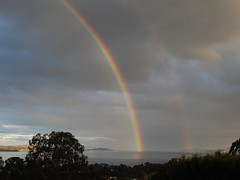 Double rainbow on the Derwent River (dracophylla) Tags: rainbow tasmania hobart derwentriver taroona