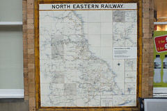 20120408 115 York. NER Network Map (15038) Tags: sign notice trains signage infrastructure railways railwayana